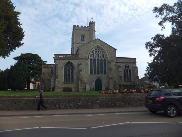 The west end of St Mary's church, Axminster