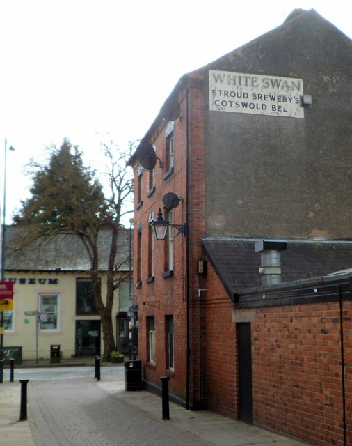 Relic of the former White Swan pub in Leominster
