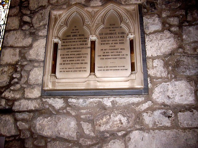 Memorial plaque in St Machar's Cathedral