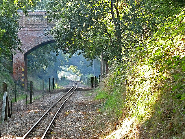 Bure Valley Railway at Rectory Road bridge