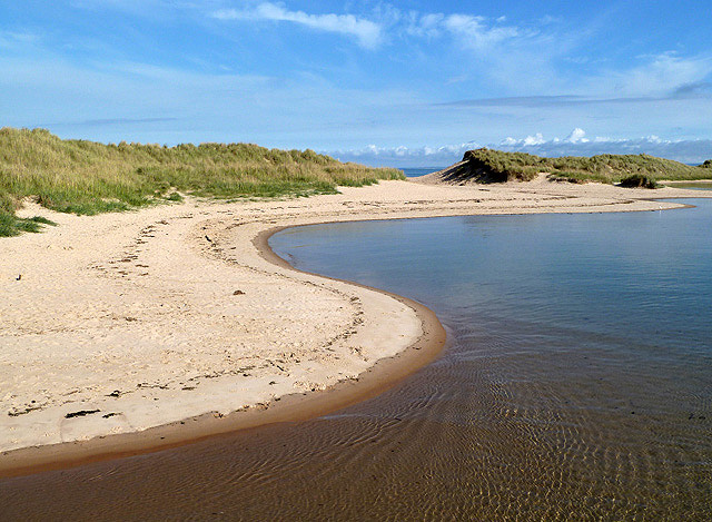 The River Lossie and East Beach dunes