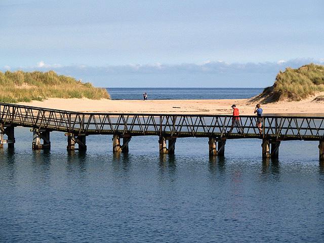 A pedestrian bridge to Lossiemouth East Beach