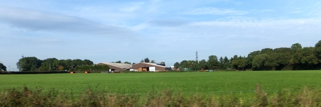 Storage buildings at Mount Pleasant, seen from A35