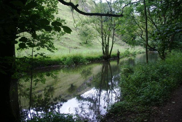The River Dove above Coldeaton Bridge