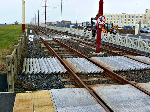 North along the tramway to Fleetwood, Blackpool