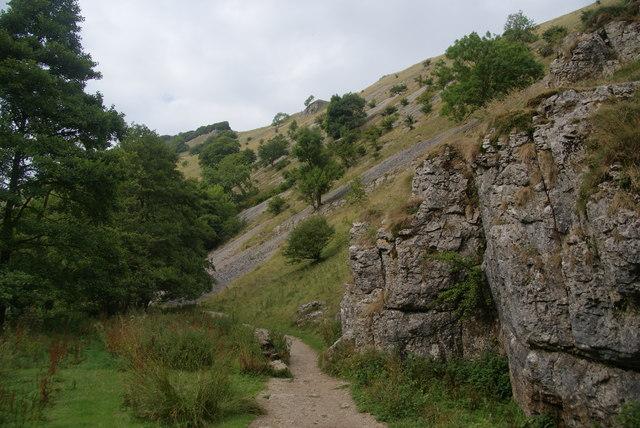 Limestone sides of Wolfscote Dale