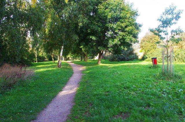 Path through the trees, Spennells, Kidderminster