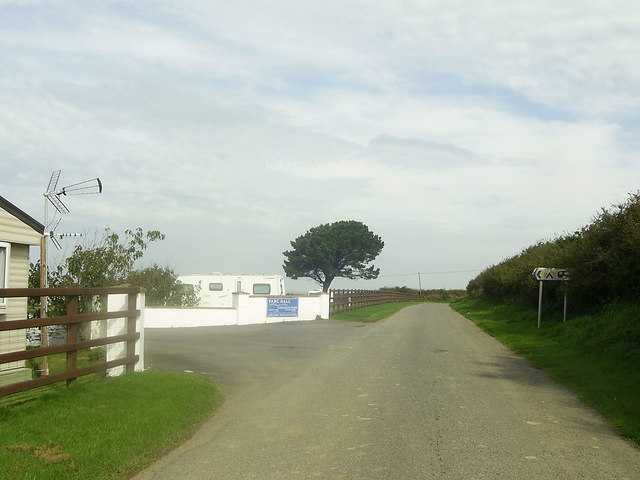 Entrance to Parc Hall Caravan Park