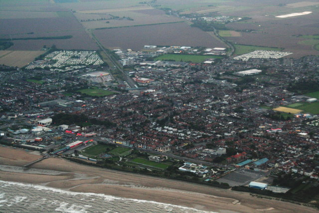 Skegness at nightfall: aerial 2013