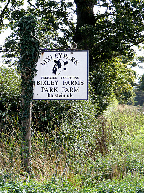 Bixley Park Farms sign