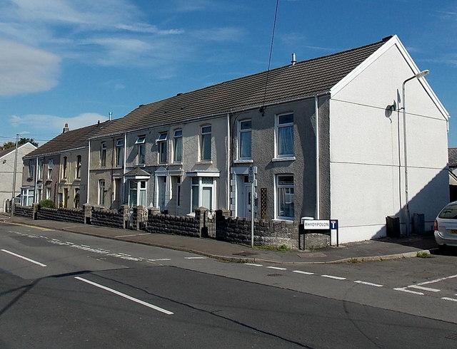 West Street houses north of Rhydypolon, Kingsbridge