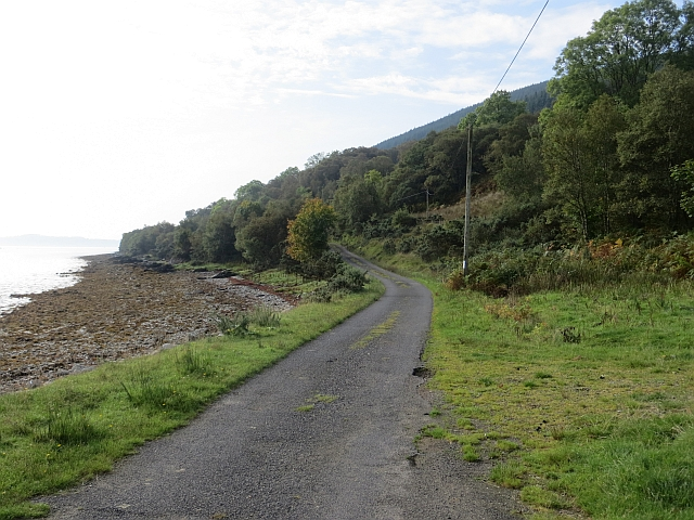 Road beside Loch Striven