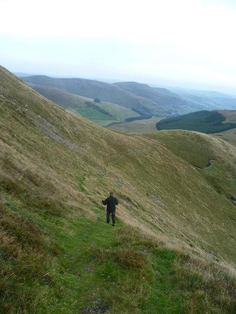 Descending Cadair Berwyn