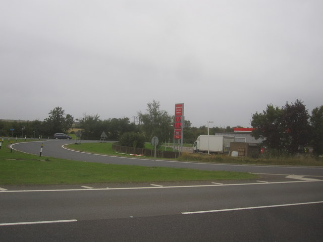 Spaldwick Services - Viewed from A14