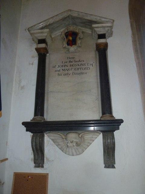 St Mary, Beaminster: memorial (II)
