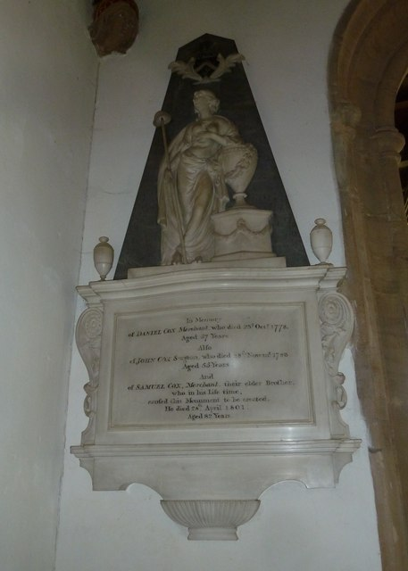 St Mary, Beaminster: memorial (V)