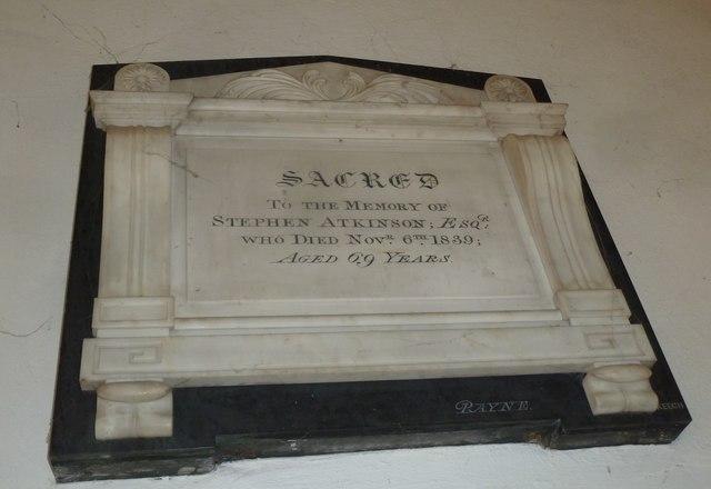 St Mary, Beaminster: memorial (VI)