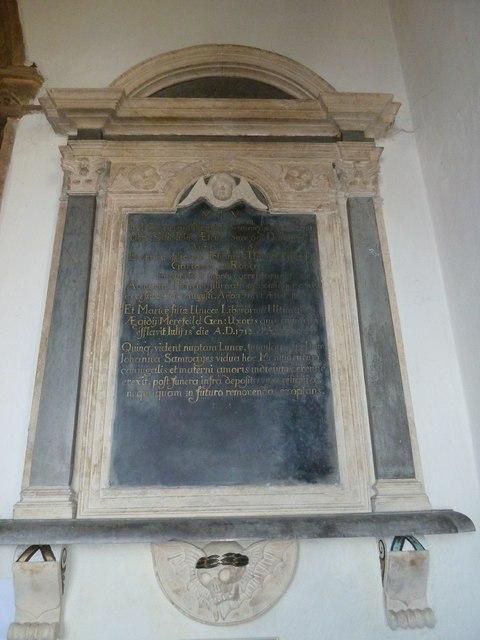 St Mary, Beaminster: memorial (VII)