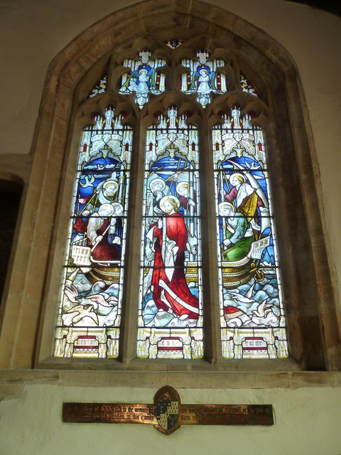 St Mary, Beaminster: stained glass window (b)