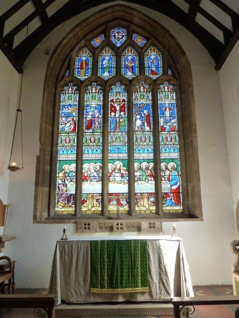 St Mary, Beaminster: altar