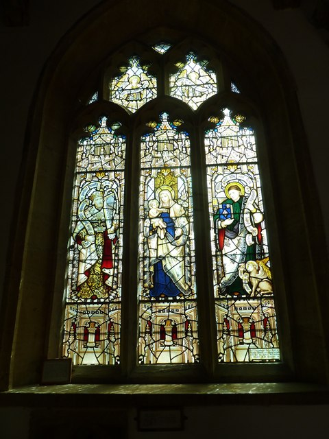 St Mary, Beaminster: stained glass window (c)