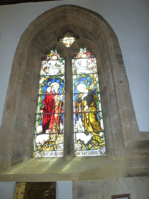 St Mary, Beaminster: stained glass window (d)