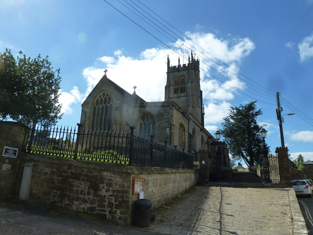 St Mary, Beaminster: from the north-east