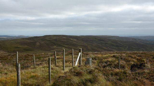 Boundary stone on Stac Rhos