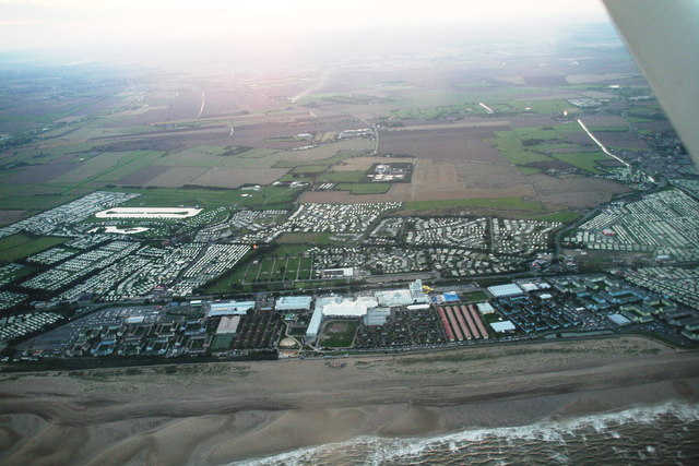 Skegness: Butlins' nightlife begins (aerial 2013)