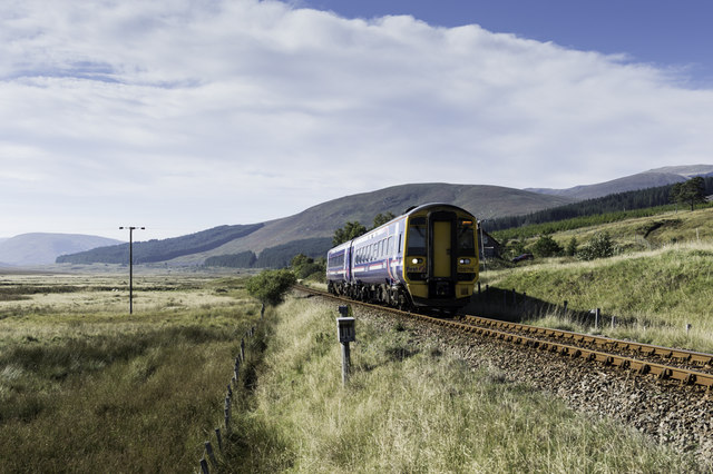 Inverness bound service - DMU 158718