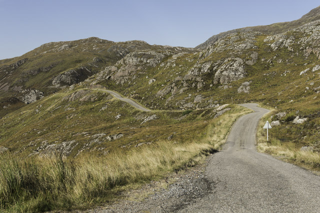 Top of the Mad wee road to Diabaig