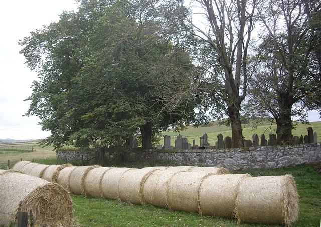 Walled graveyard at Essie