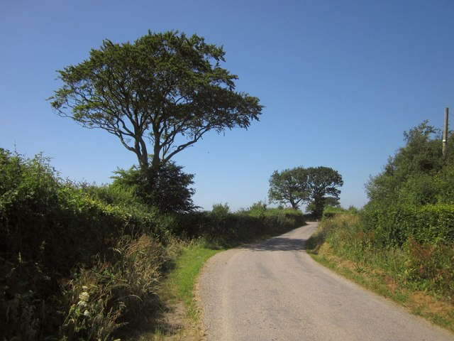 Lane approaching Mouseberry Cross