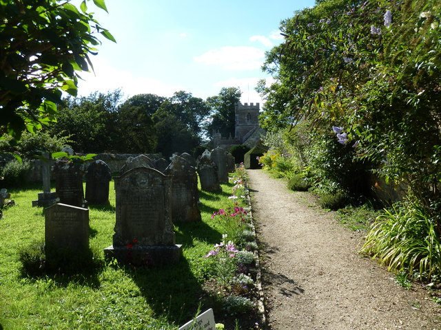 St Mary Magdalene, Loders: church path (I)