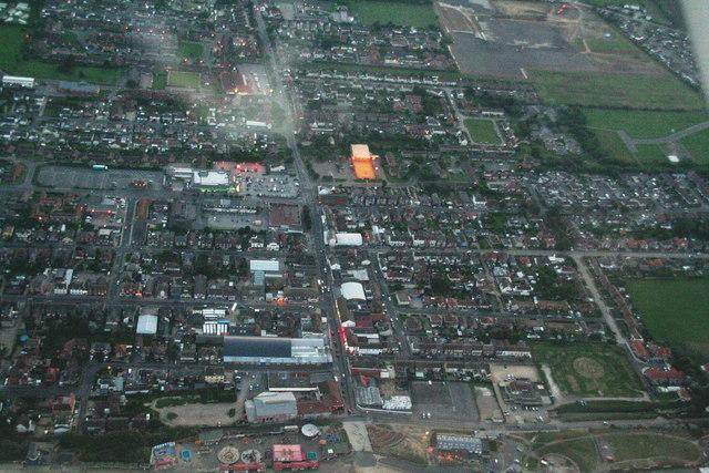 Mablethorpe at nightfall: aerial 2013