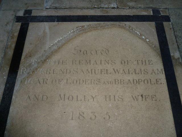 St Mary Magdalene, Loders: memorial (4)