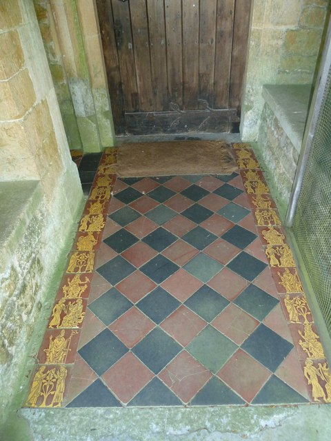 St. Mary Magdalene, North Poorton: tiles