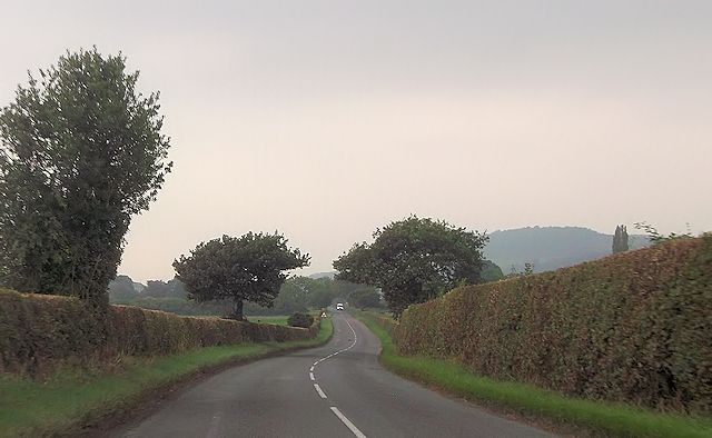 B4386 from entrance to Black Wood