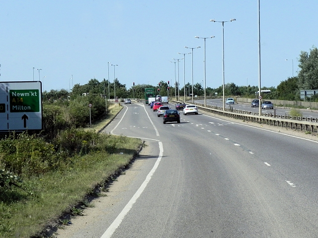 A1309 Approaching Junction with A14