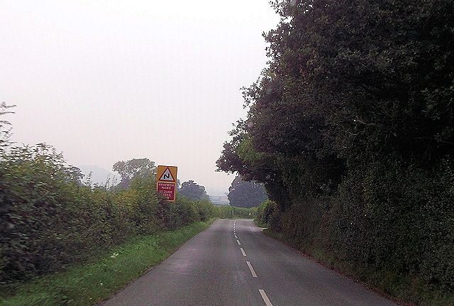 Double bends near Gunley Hall