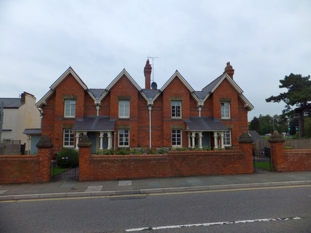 Victorian almshouses, Magdalen Street, Exeter