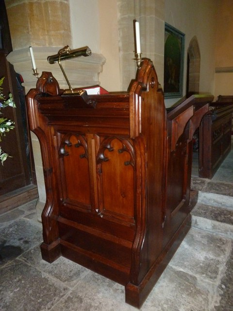 St Michael, Askerswell: prayer desk