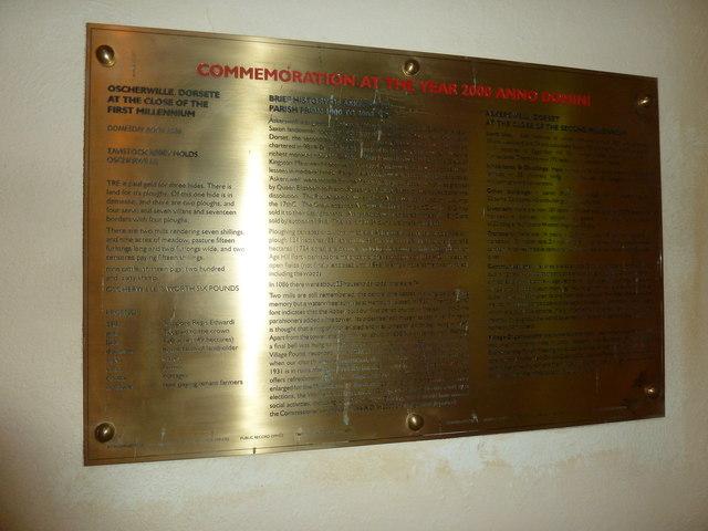 St Michael, Askerswell: Millennium Commemoration