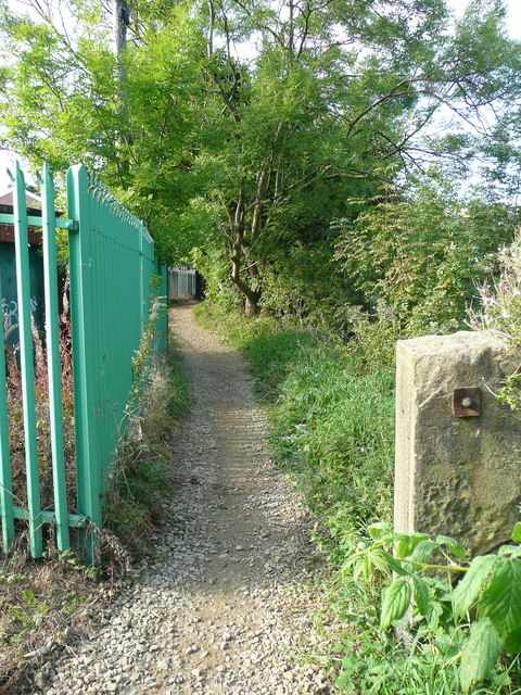 The Black Brook Footpath at Little Bradley