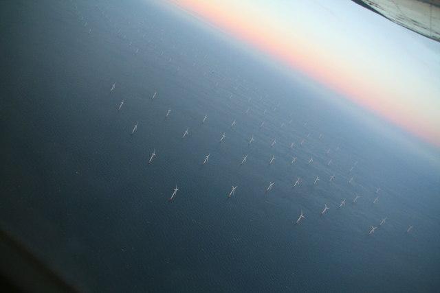 Lynn and Inner Dowsing Wind Farm: aerial 2013