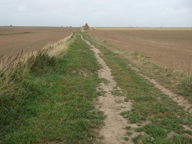 Farm track heading east