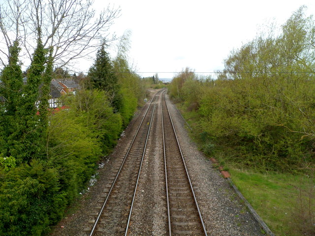 Welsh Marches Line north of Leominster railway station