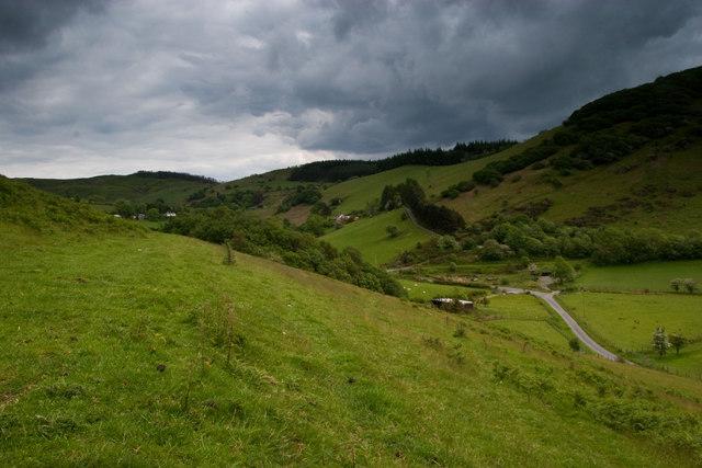 The path above Cwmerfyn