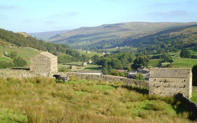 Barns above Thwaite