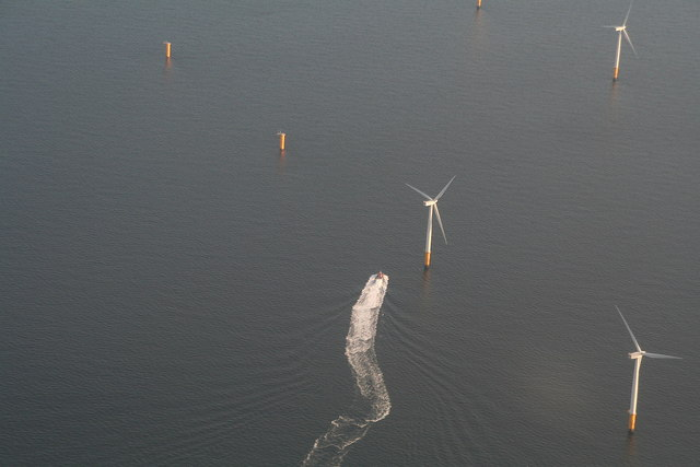 Target practice at Lynn and Inner Dowsing Wind Farm? Aerial 2012